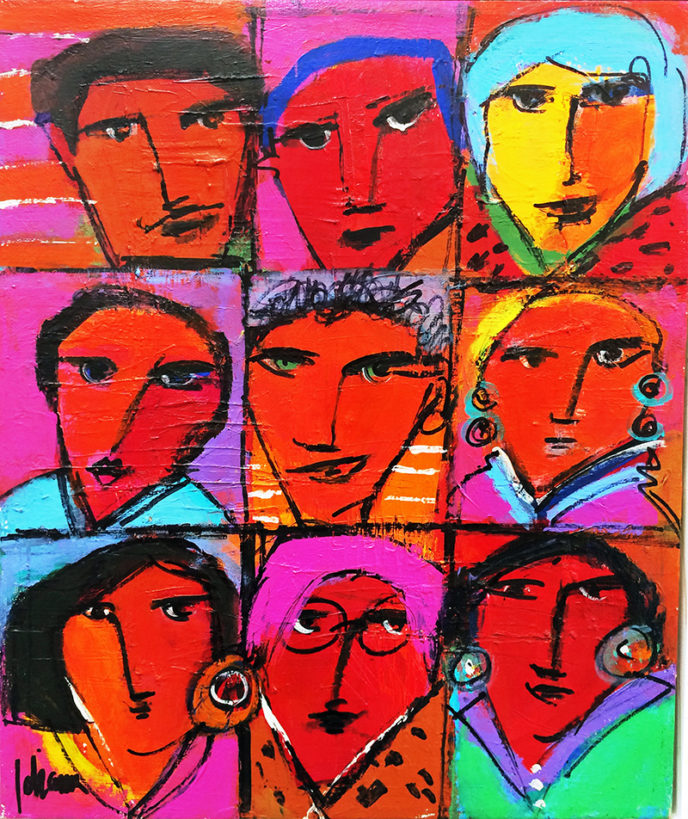The Group / El grupo by Herson - Israeli Artist