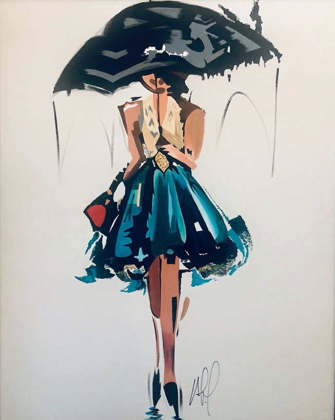 Woman with Umbrella /  by Allain