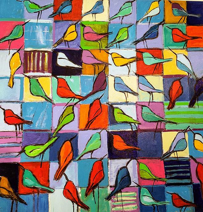 Bird Talk /  by Herson - Israeli Artist