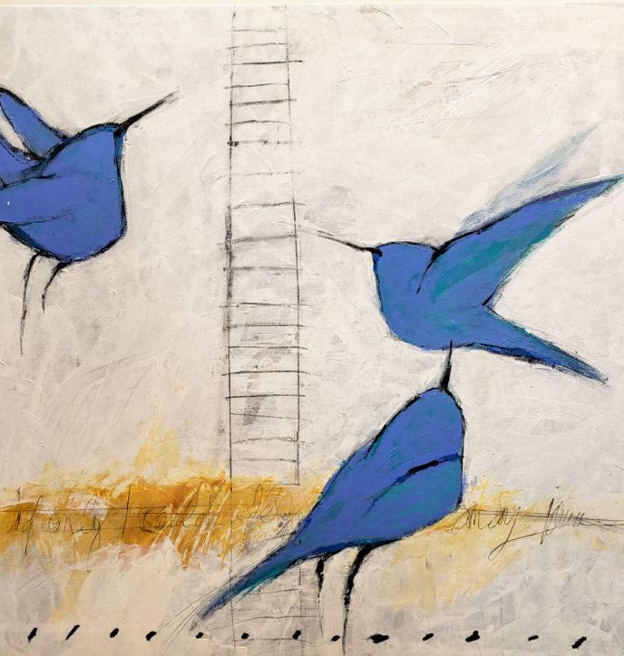 Blue Flight /  by Herson - Israeli Artist