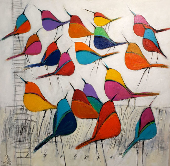 Colorful Flock /  by Herson - Israeli Artist