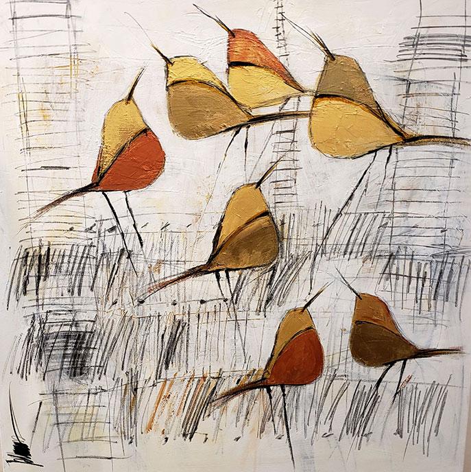 Gold Flock /  by Herson - Israeli Artist