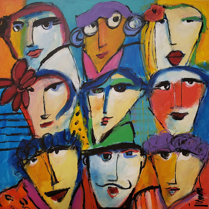 Happy Faces /  by Herson - Israeli Artist
