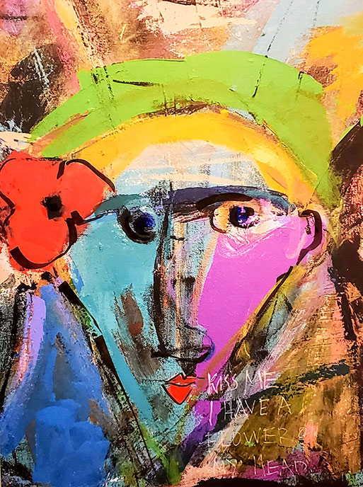 Kiss Me I have a Flower on my Head /  by Herson - Israeli Artist