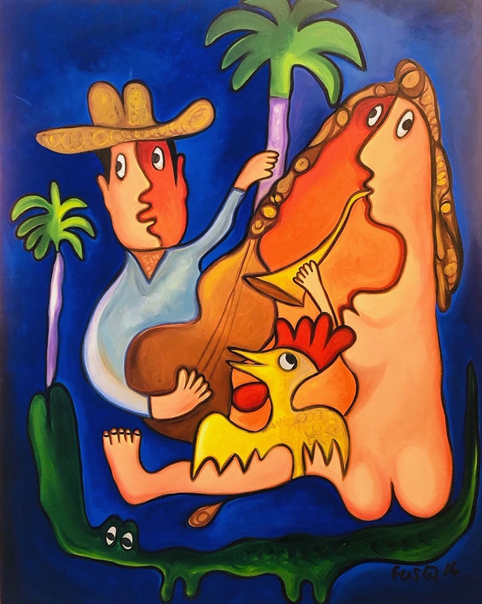 Countryman Troubadour with Mermaid / Guajiro Trivador con Serena by Fuster